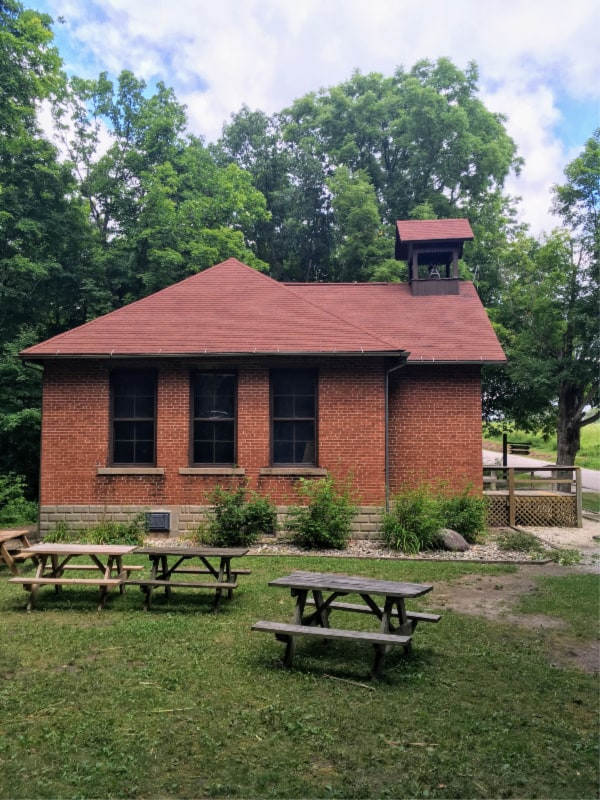 Stanley Schoolhouse in Chain O' Lakes State Park, Indiana.