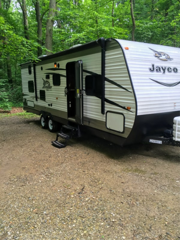 Our Jayco in spot 333 Chain O' Lakes, Indiana