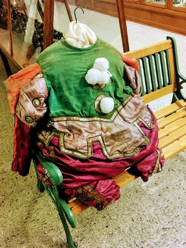 Vintage clown costume at the Miami County Museum, Peru, Indiana.