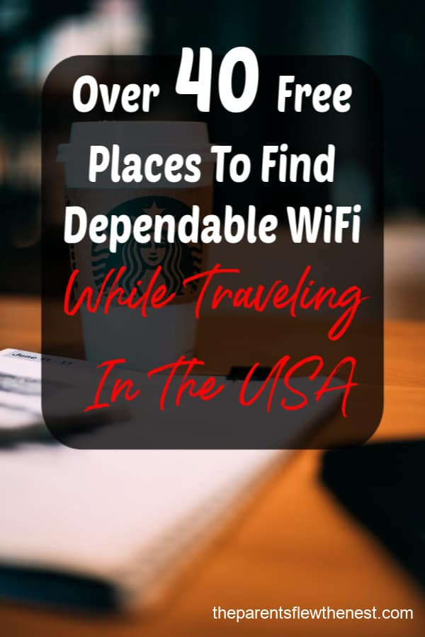 How to find free wifi when traveling in the USA. #traveltips #travelusa