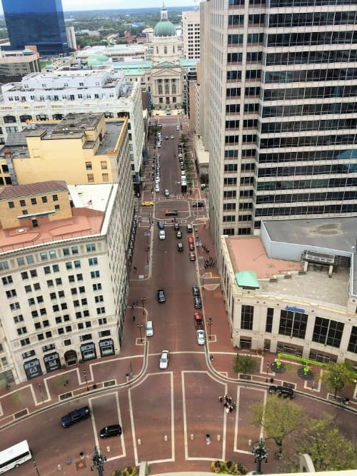 Enjoy the views from the top of the Soldiers And Sailors monument in downtown Indianapolis.