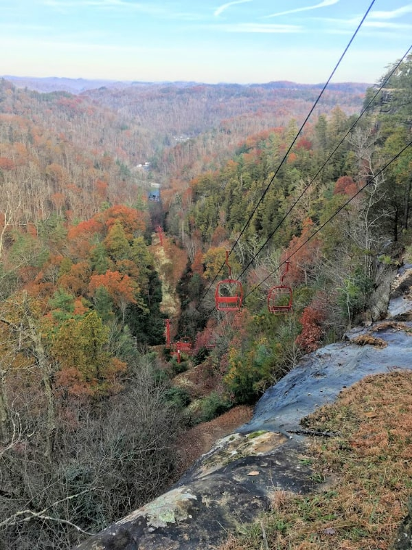 The Skylift in Natural Bridge State Resort Park, KY.