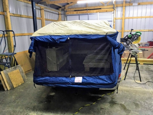 A look at how the DAC Truck tent looks on our GMC Sierra 1500.