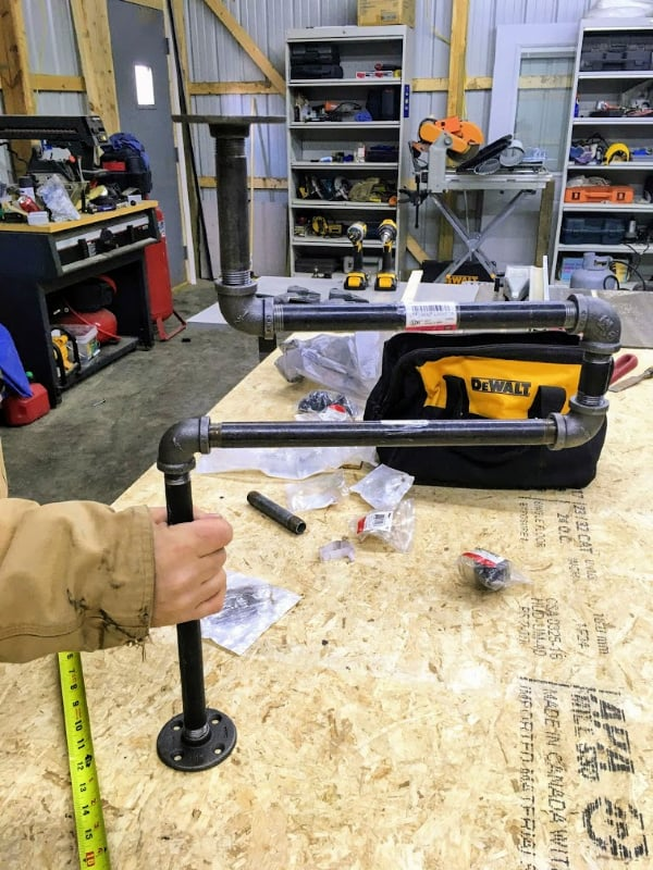 How we transformed our DIY truck camper bed platform into a table.