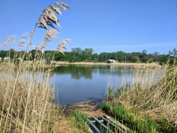 View of Striebel Pond in Michigan City, Indiana.