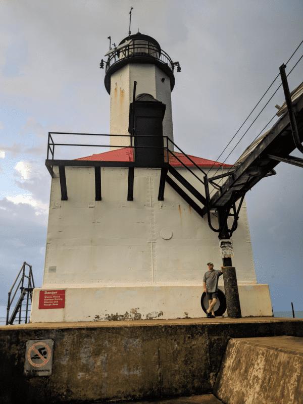 Michigan City East Pierhead Lighthouse.