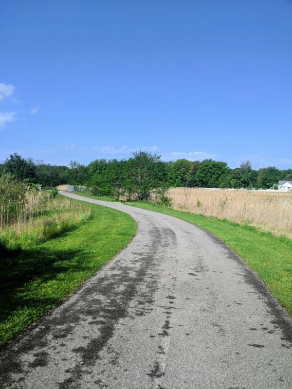 The path around Striebel Pond in Michigan City, Indiana.