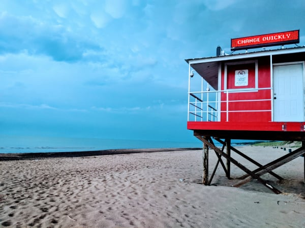 Washington Park Beach in Michigan City, Indiana.