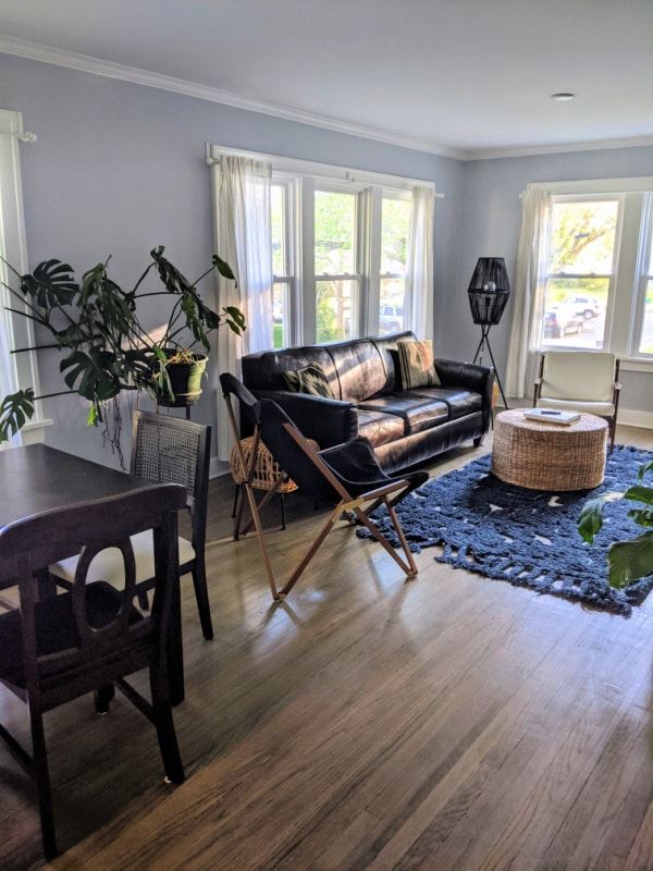 Two bedroom Airbnb in Michigan City, Indiana.