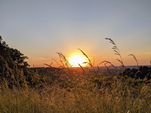 Sunset at a vista in Brown County State Park, Indiana.