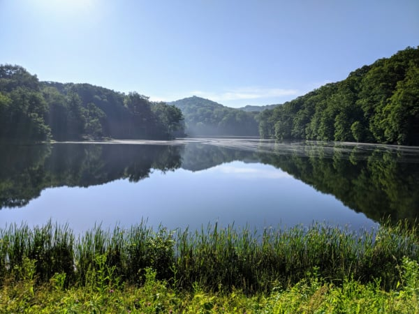 Ogle Lake, Brown County State Park, Indiana.