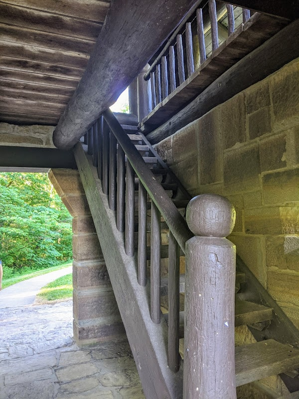 Inside of a lookout Tower In Brown County State Park, Indiana.