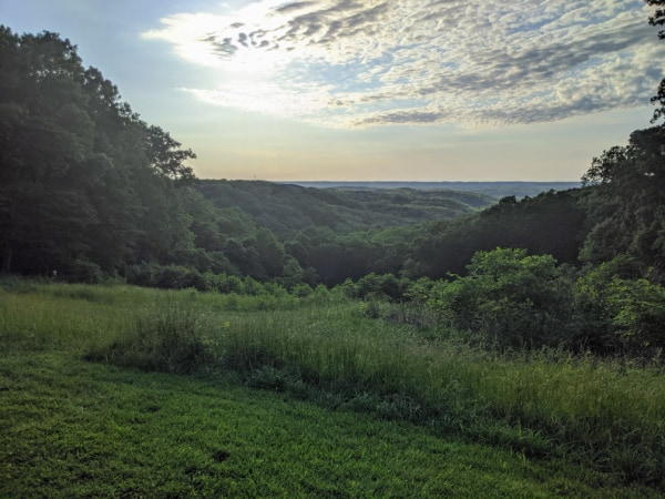 Vista in Brown County State Park, Indiana.