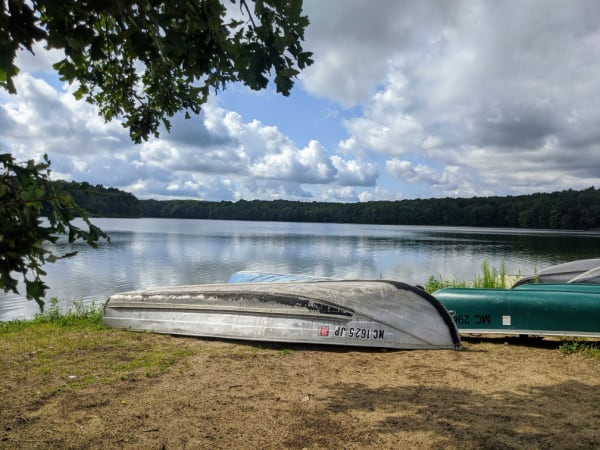 Rent a canoe at Fort Custer Recreation Area, Michigan.