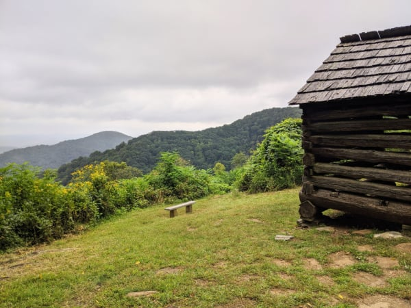 Blue Ridge Parkway Virginia Hikes: Cabin on the Smart View Loop Trail