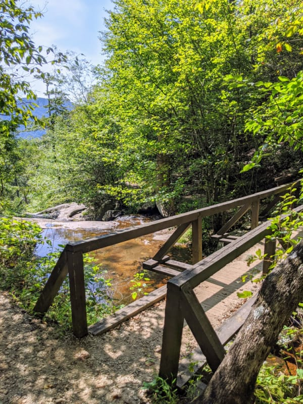 Blue Ridge Parkway Virginia Hikes: The top of the Fallingwater Cascades Trail