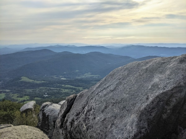 Blue Ridge Parkway Virginia Hikes: Valley views from the top of Buzzards Roost