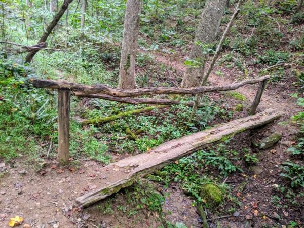 Blue Ridge Parkway Virginia Hikes: Bridge on the Smart View Loop Trail