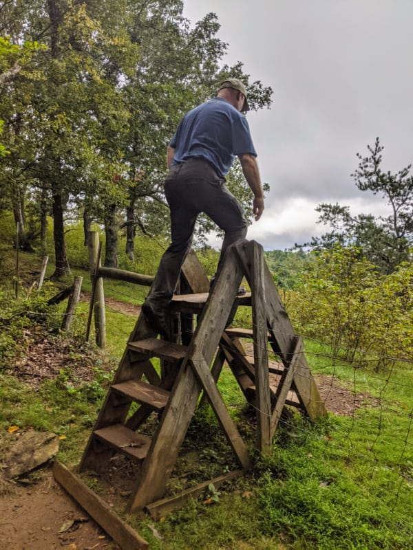 Blue Ridge Parkway Virginia Hikes: Crossing into Cow Fields on the Rock Castle Gorge Loop Trail