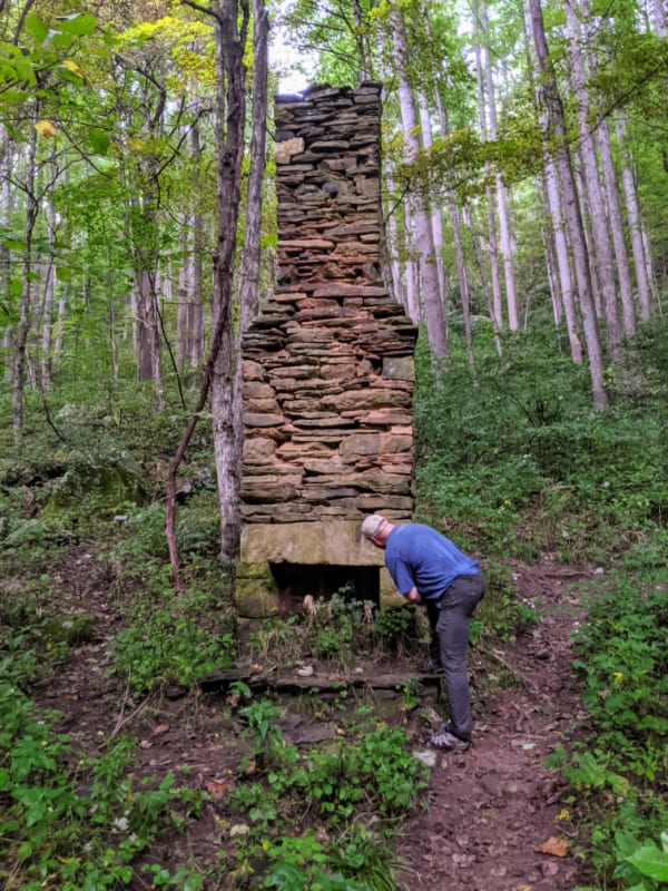 Blue Ridge Parkway Virginia Hikes: Cabin remains on the Rock Castle Gorge Loop Trail