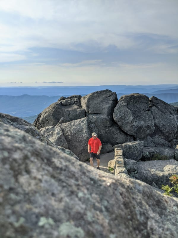 Blue Ridge Parkway Virginia Hikes: The Sharp Top Trail Viewing Area