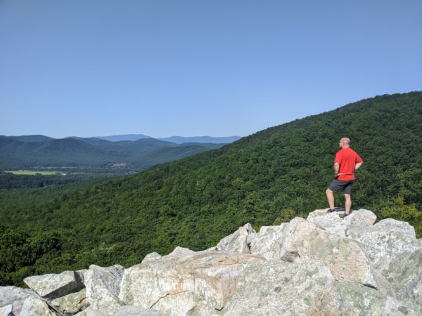 Pack a snack or a meal and eat it while soaking up the views seen from Devil's Marbleyard, Virginia. Trust me--you want to get off the Blue Ridge Parkway and experience this hike.