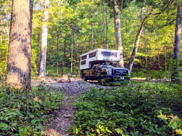 Our campsite within the Jefferson National Forest, not too far off of the Blue Ridge Parkway.