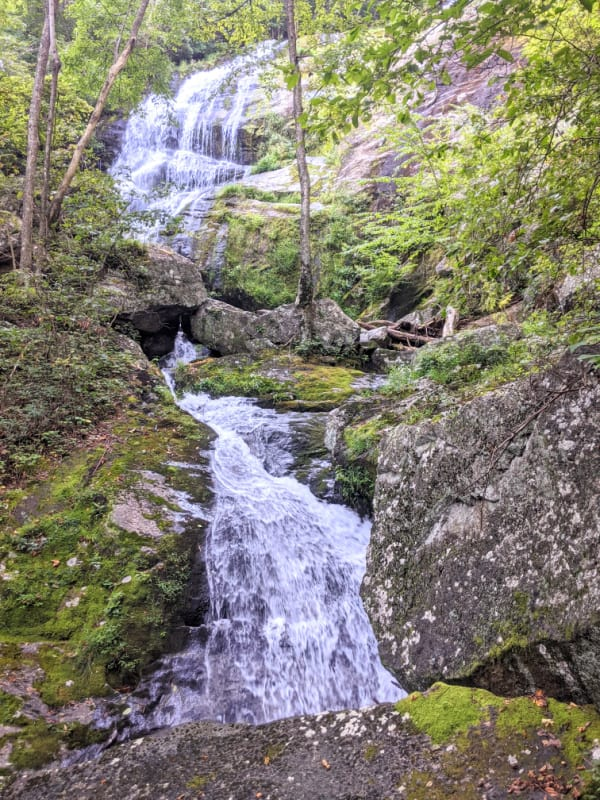 Views of the middle section of Crabtree Falls, Virginia. Located a few miles off the Blue Ridge Parkway.