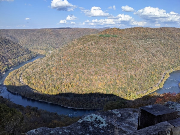 Grandview Rim Trail overlook in the New River Gorge National Park.