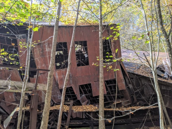Remains of the Kaymoor Mine coal processing area.