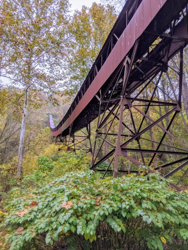The Nuttallburg Coal Conveyor: New River Gorge National Park.