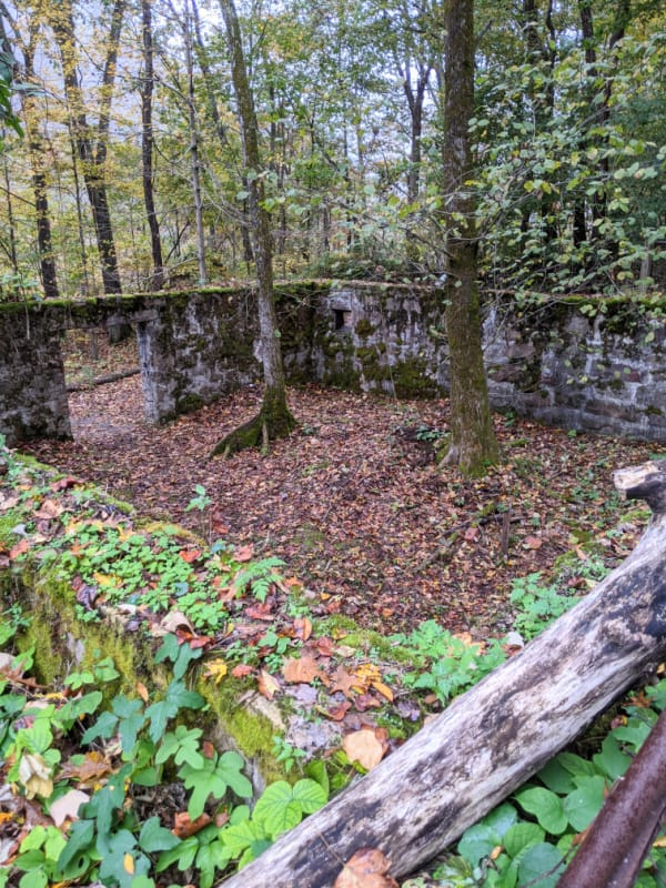 The foundation of what was the Nuttallburg company store.