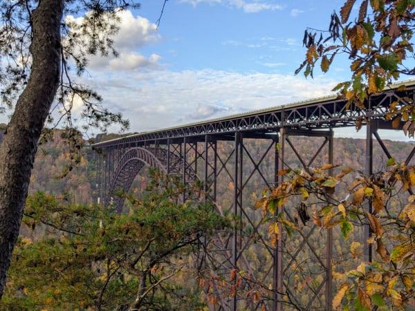 Views of the New River Bridge.