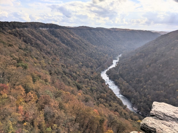 Views of the New River from the Endless Wall Trail.