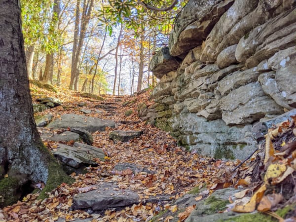 Beautiful fall views along the Tunnel trail.