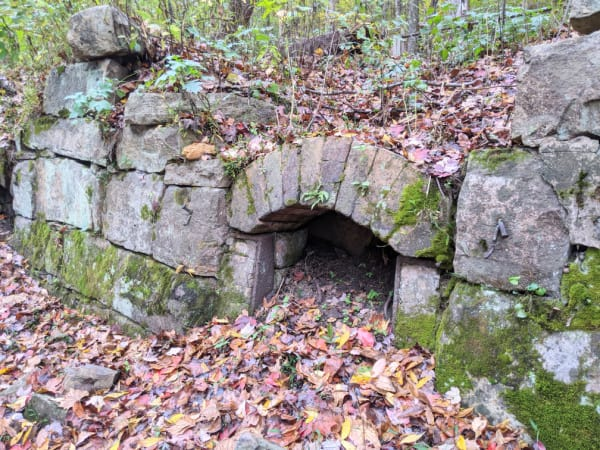 Remains of a coke oven at the Nuttallburg mine site. New River Gorge area.