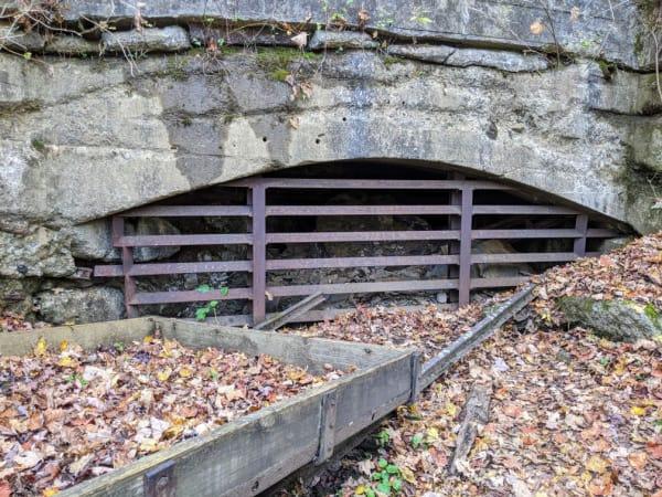 MIne drift opening at the Kaymoor Mine site.