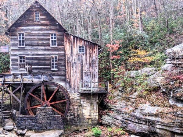 Glade Creek Grist Mill: Babcock State Park, WV.