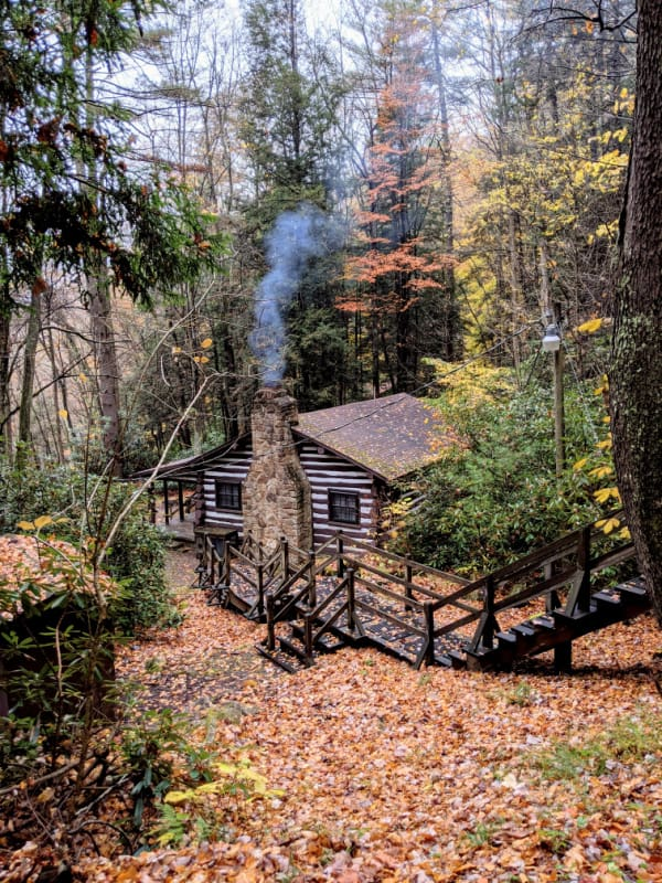 The cabins at Babcock State Park, WV.