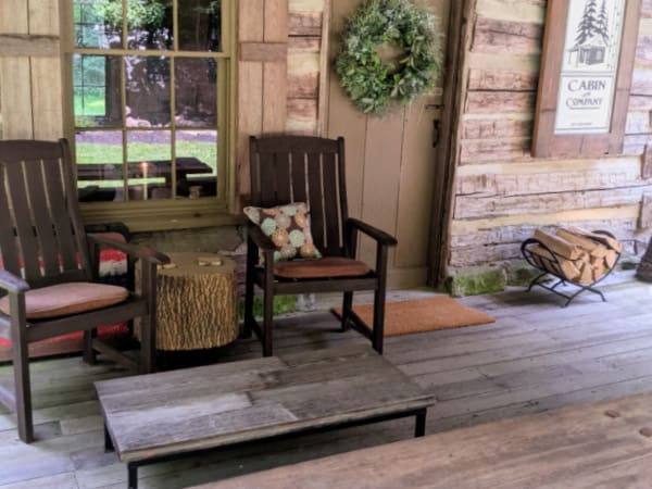 The front porch of our HIpcamp campsite.